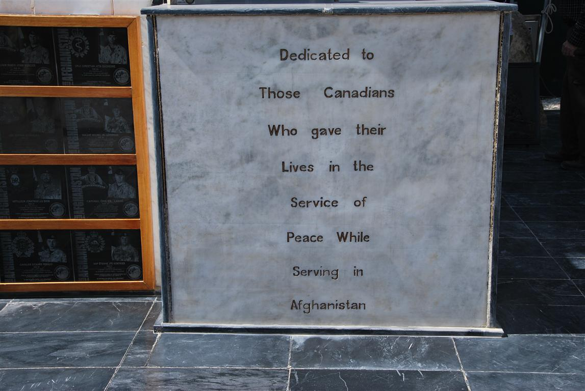 The Canadian Monument to the Fallen which is in front of the Headquarters.